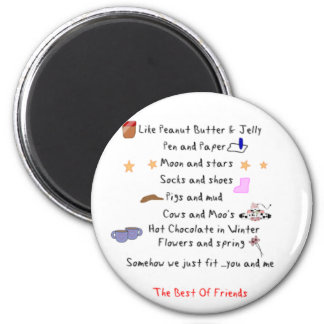 Like Peanut Butter and Jelly 6 Cm Round Magnet