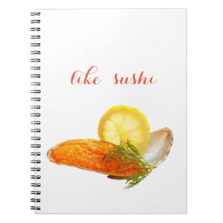 like sushi spiral notebook