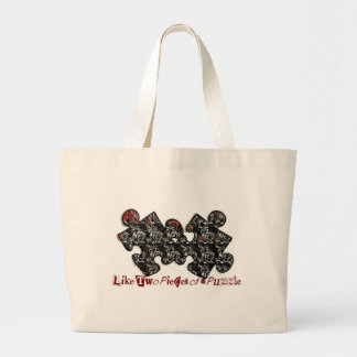 Like Two Pieces of a Puzzle Jumbo Tote Bag