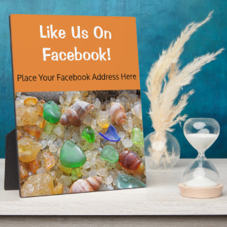 Like Us On Facebook counter Plaque Custom Seaglass