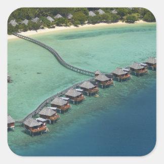 Likuliku Lagoon Resort, Malolo Island, Fiji Square Stickers