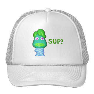 "Lil Alien dude says, ""Sup?"" Cap"