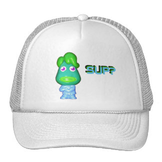 "Lil Alien Gangster says, ""Sup?"" Cap"