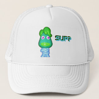 "Lil Alien Gangster says, ""Sup?"" Trucker Hat"