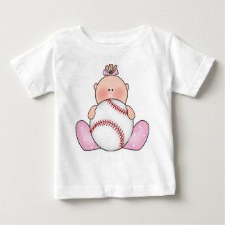 Lil Baseball Baby Girl Baby T-Shirt