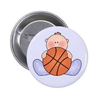 Lil Basketball Baby Boy 6 Cm Round Badge