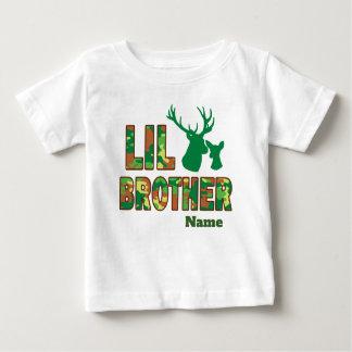 Lil Big Brother Camo Hunter Deer Baby T-Shirt