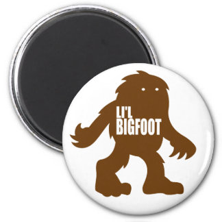 LI'L BIGFOOT Adorable Logo - Cute Brown Sasquatch 6 Cm Round Magnet