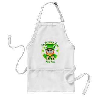 LIl Blarney in NY for St Patty's Day Adult Apron