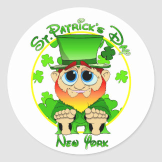 LIl Blarney in NY for St Patty's Day Classic Round Sticker