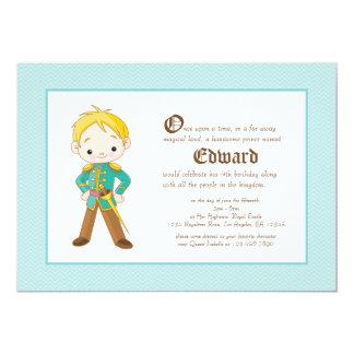 Li'l Blonde Prince Royal Birthday Invitation