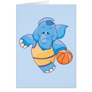 Lil Blue Elephant Basketball Card