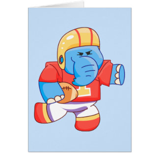 Lil Blue Elephant Football Note Card