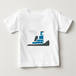 Lil Blue Tugboat Baby T-Shirt