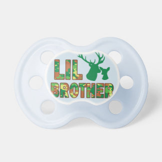Lil Brother Camo Hunter Deer Baby Shower Dummy