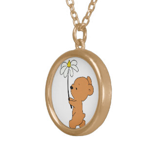 Lil Brown Bear Necklace
