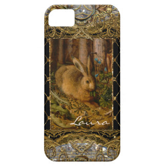 Lil Bunny in the Garden Monogram Barely There iPhone 5 Case