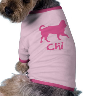 Lil' Chihuahua w/ Chi Text (pink) Doggie Tee Shirt