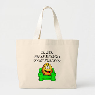 Lil Couch Potato Large Tote Bag