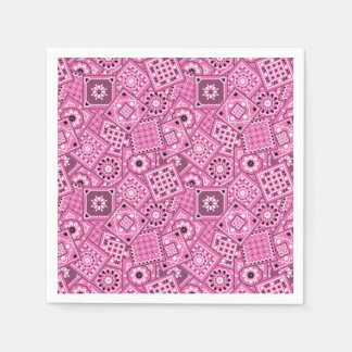 Lil' Cowgirl Baby Shower Pink Bandanna Napkins Disposable Napkin