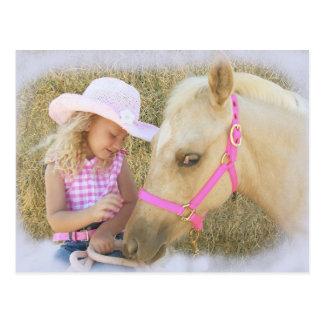 Lil Cowgirls Love Postcard