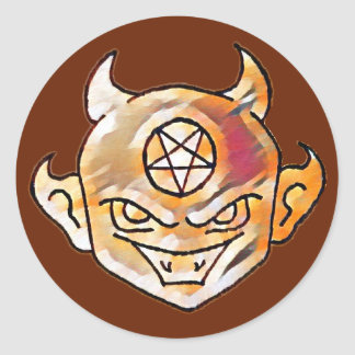 Lil' Devil Classic Round Sticker