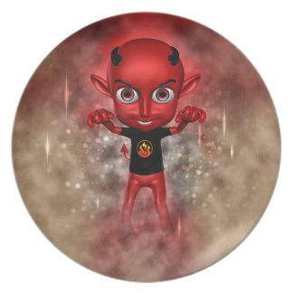 Lil Devil Scarer Party Plate