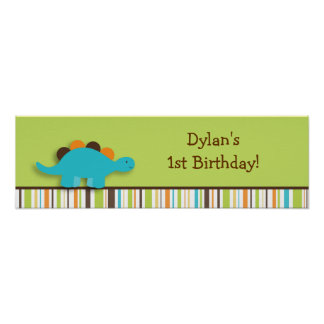 Lil Dino Dinosaur Birthday Banner Sign