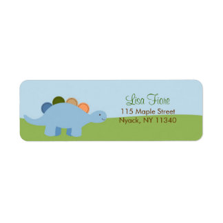 Lil Dino Dinosaur Boys Birthday Address Labels