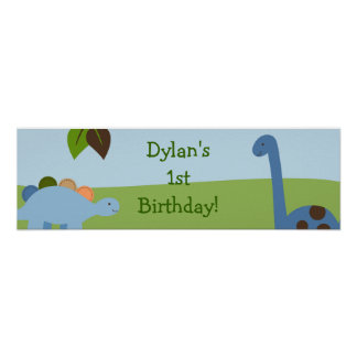 Lil Dino Dinosaur Boys Birthday Banner Sign