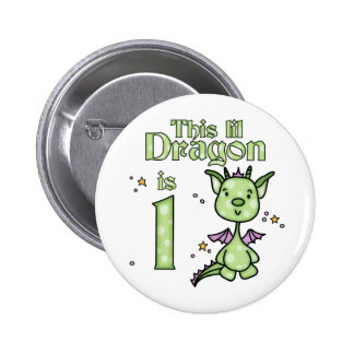 Lil Dragon 1st Birthday 6 Cm Round Badge