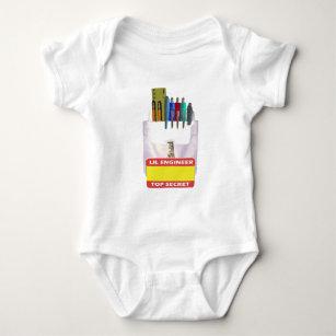Lil Engineer Pocket Protector Baby Bodysuit