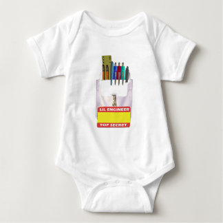 Lil Engineer Pocket Protector Baby Bodysuit