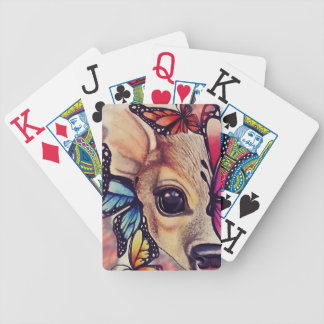 ● Lil Fawn and Butterflies ● Bicycle Playing Cards