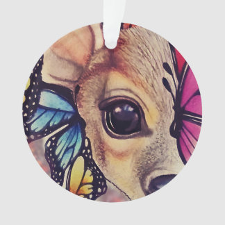 ● Lil Fawn and Butterflies ● Ornament