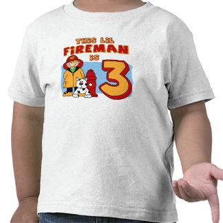 Lil Fireman 3rd Birthday T-shirt