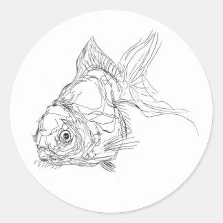 lil fishy classic round sticker