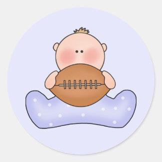 Lil Football Baby Boy Round Sticker