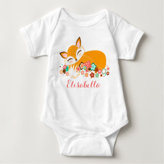 Lil Foxie Cub - Cute Baby Fox Baby Bodysuit