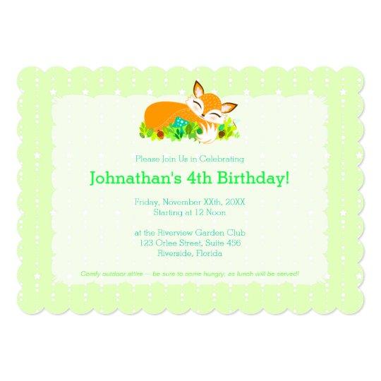 Lil Foxie Cub - Cute Baby Fox Custom Invitations