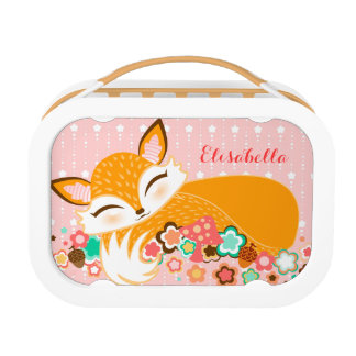 Lil Foxie Cub - Cute Custom Sleepy Fox Lunchbox