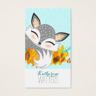 Lil Foxie Cub - Cute Fox Vertical Bizcards Business Card
