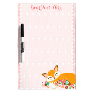 Lil Foxie Cub - Personalized Message Board Dry Erase White Board
