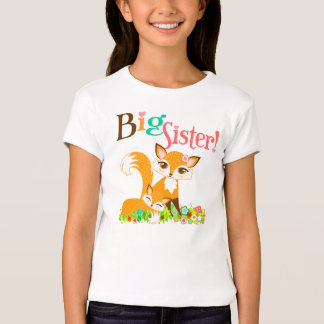 Lil Foxie Cubs - Cute Foxes Big Sister Tee Shirt