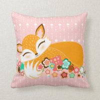 Lil Foxie Cubs - Cute Girl & Boy Foxes Pillow