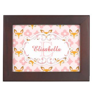 Lil Foxie - Cute Foxes Custom Name & Monogram Box