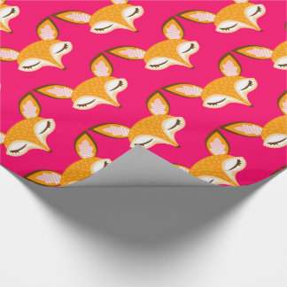 Lil Foxie - Cute Girly Fox Pattern Wrapping Paper