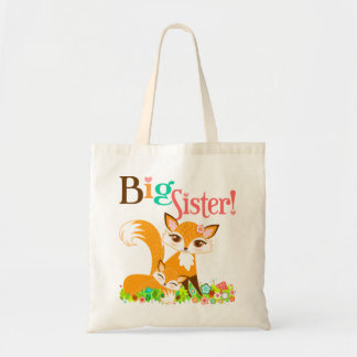 Lil Foxies Big Sister Tote Bag