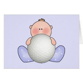 Lil Golf Baby Boy Card