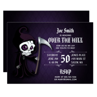 Lil' Grim Over The Hill Party Invitation